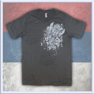 "Gray ""Affliction"" Srbija V-Neck"