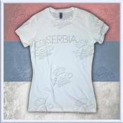 """Serbia """"Bling"""" White"""