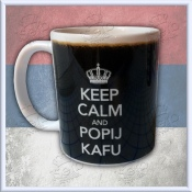 Keep Calm and POPIJ KAFU - mug - solja