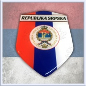 Republika SRPSKA Domed Decal Shield