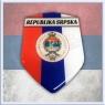 Republika SRPSKA Domed Decal Shield