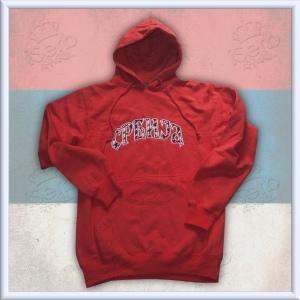 Srbija Red Hooded Sweatshirt