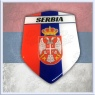 Srbija Domed Decal Shield