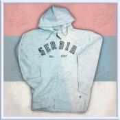 Serbia zipper Hoodie