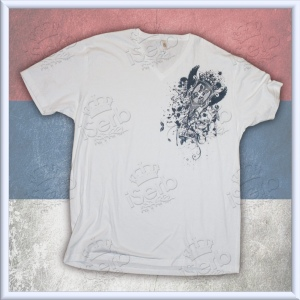 "White ""Affliction"" Srbija V-Neck"